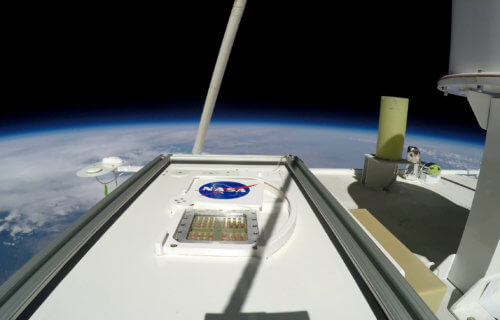MARSBOx payload in the Earth's middle stratosphere