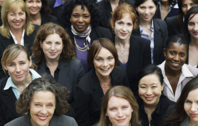 Group of proud, professional women