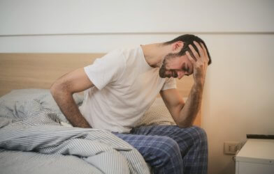 young adult sick pain