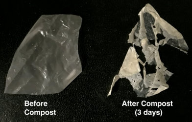 "Single-use plastic that ""eats itself"""