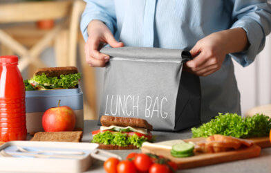 Parent packing school lunch