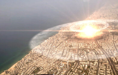 Nuclear bomb attack